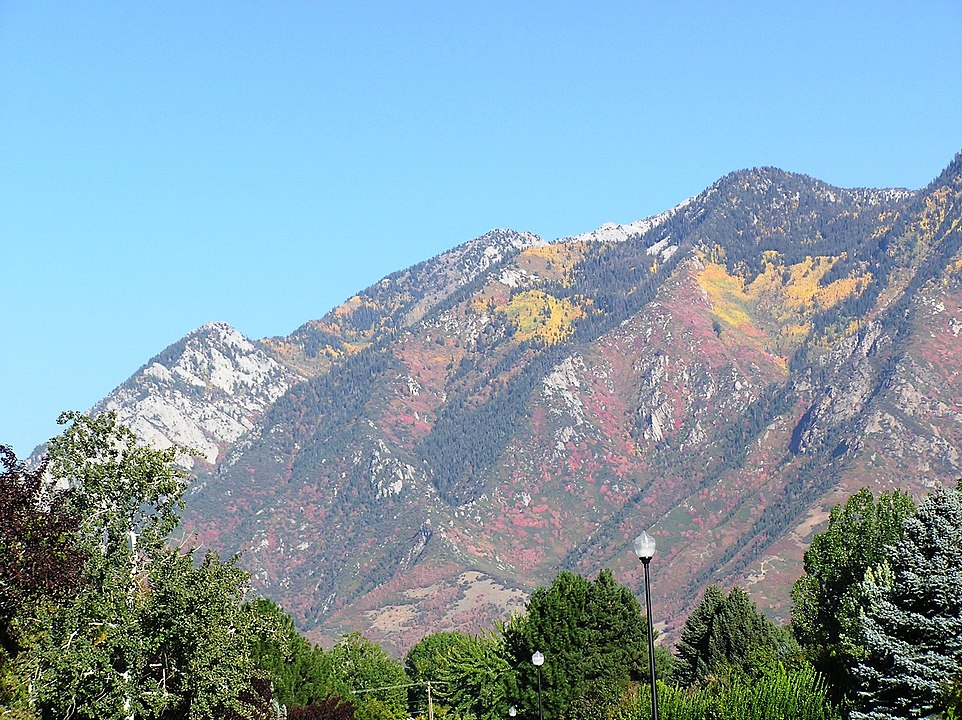 Picture of the Wasatch Mountains from Sandy, Utah