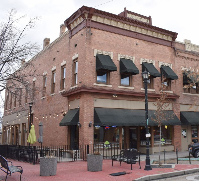 picture of a historic building in downtown Nampa Idaho